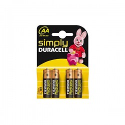 DURACELL SIMPLY ALC LR6  AA 4τεμ Αλκαλική Μπαταρία